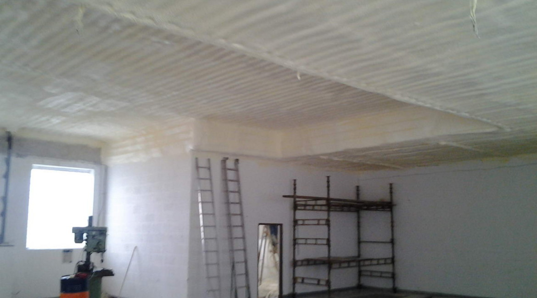 pur izolace garáže - zateplení stříkanou izolací